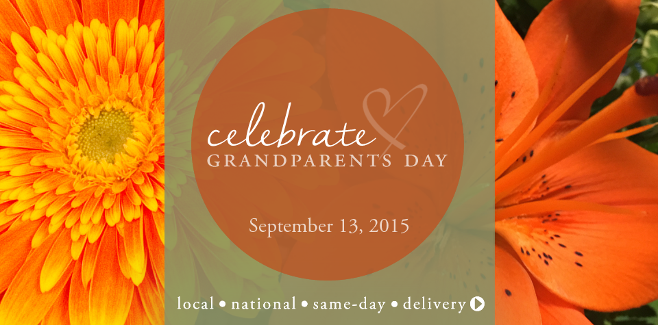 National Grandparent's Day, a special day, enjoy and honor your grandparents with flowers, blooming or green plants or gourmet gift baskets.